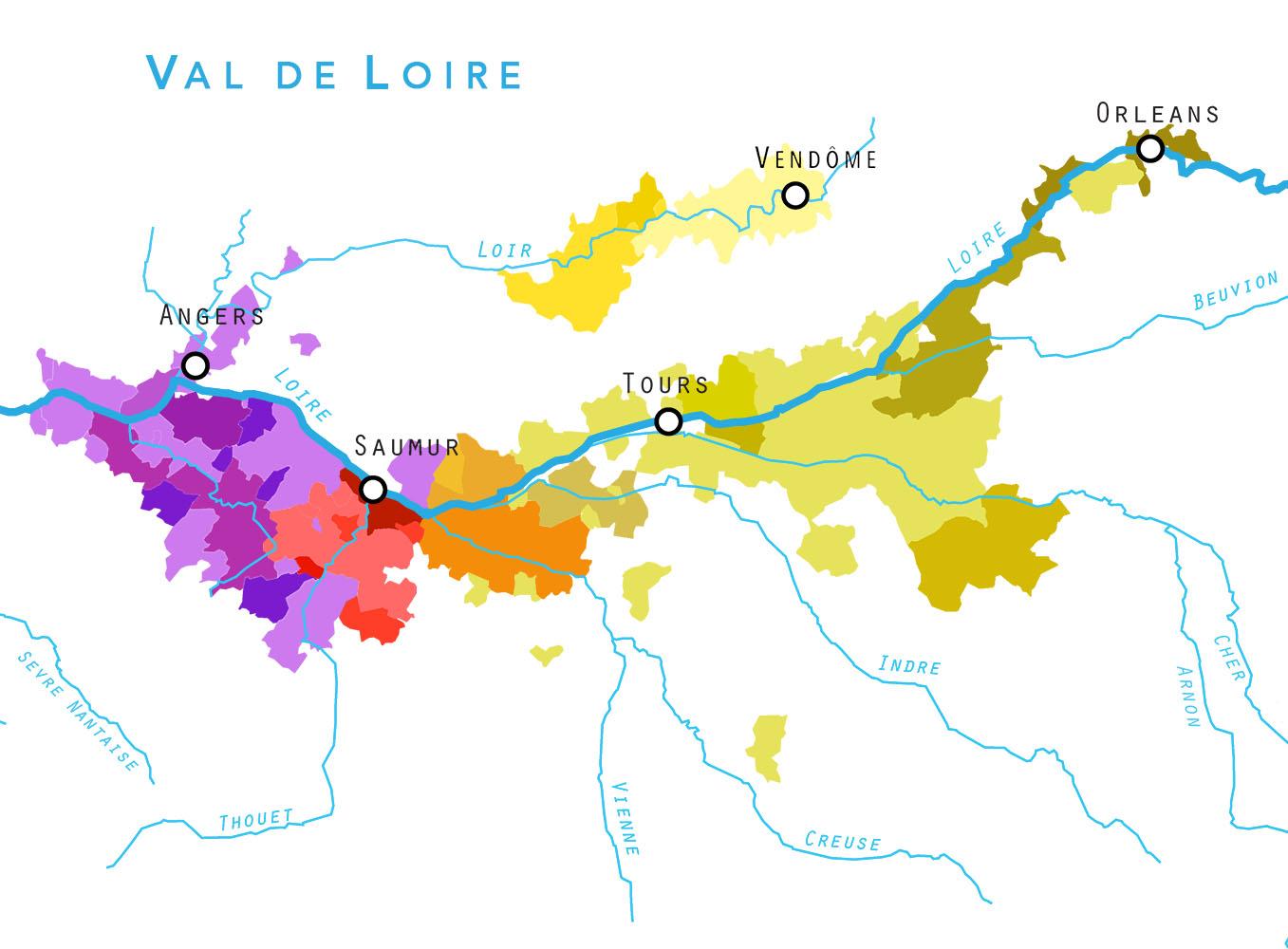 Val de Loire, AOC, Loirewijn, Wijnwerk, Streek, Crémant, Rosé