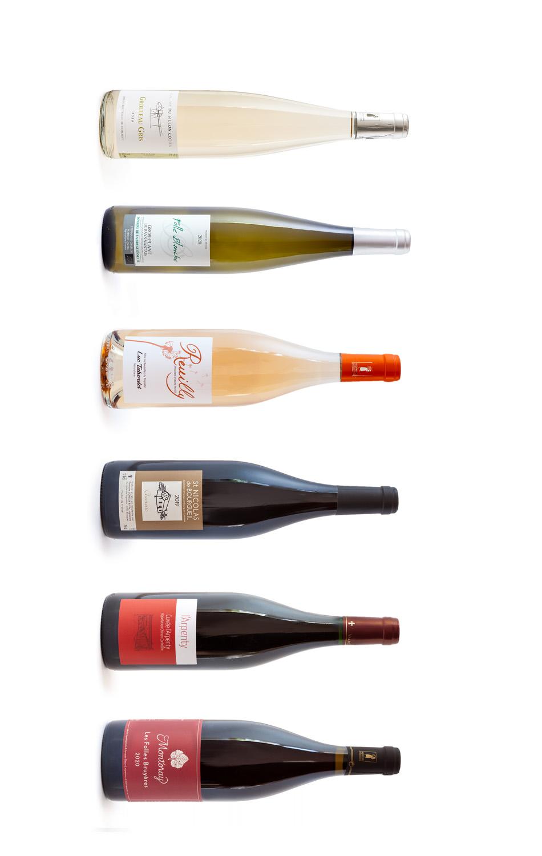 Proefdoos, wittewijn, rosé, rood, Bistrot du Bac,Grolleau Gris, Folle Blanche, Melon de Bourgogne,  assortiment, cepages, druiven