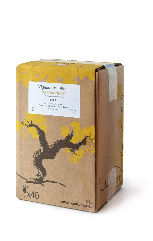 Vignes de l\'Alma, BiB, Chardonnay, Vin de Pays, Val de Loire, Aperitief